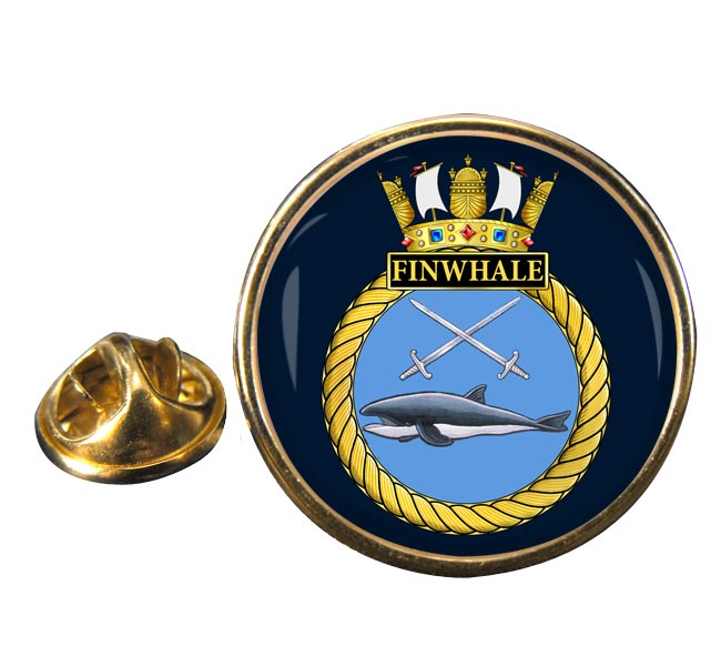 HMS Finwhale (Royal Navy) Round Pin Badge