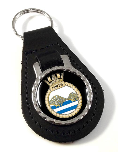 HMS Forth (Royal Navy) Leather Key Fob