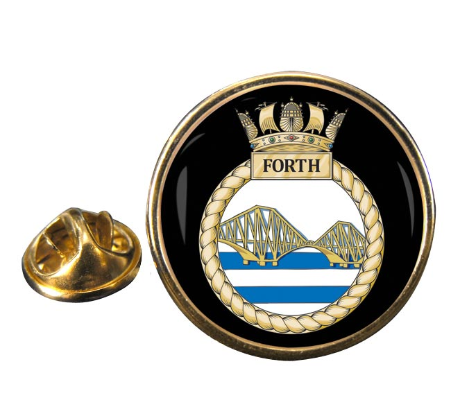 HMS Forth (Royal Navy) Round Pin Badge