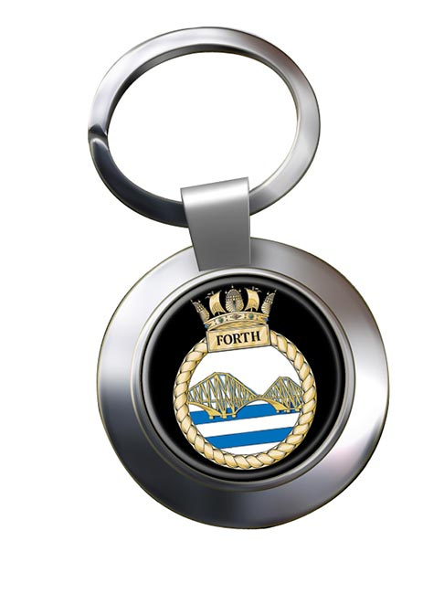 HMS Forth (Royal Navy) Chrome Key Ring