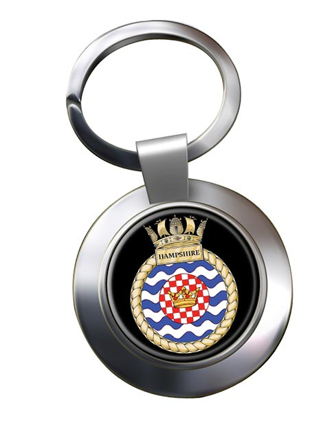 HMS Hampshire (Royal Navy) Chrome Key Ring