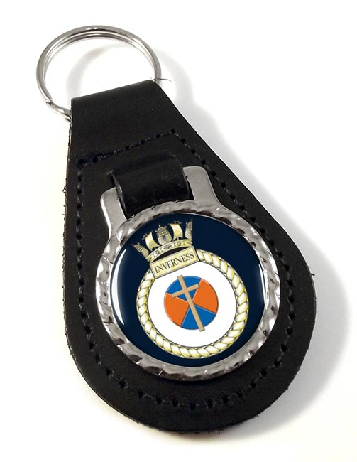 HMS Inverness (Royal Navy) Leather Key Fob