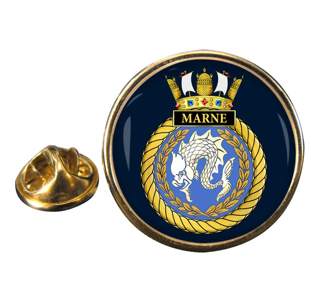 HMS Marne (Royal Navy) Round Pin Badge