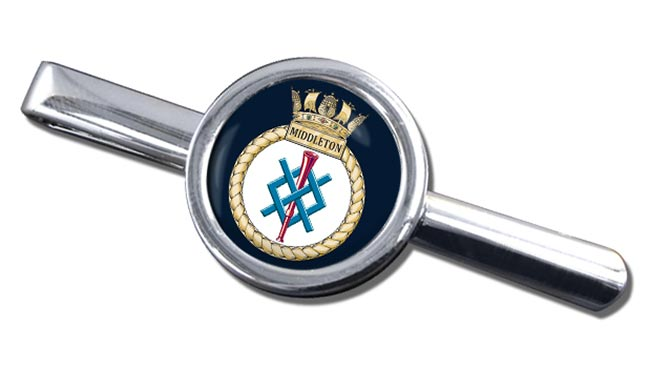 HMS Middleton (Royal Navy) Round Tie Clip