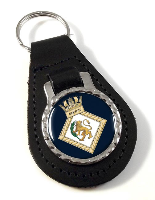 HMS Nelson (Royal Navy) Leather Key Fob