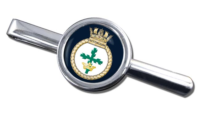 HMS Nottingham (Royal Navy) Round Tie Clip