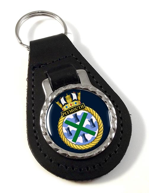 HMS Plymouth (Royal Navy) Leather Key Fob