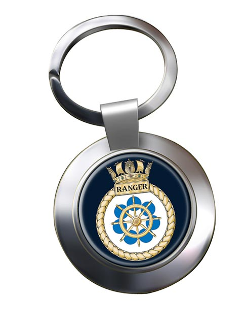 HMS Ranger (Royal Navy) Chrome Key Ring