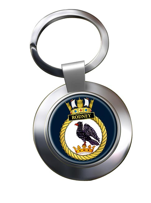 HMS Rodney (Royal Navy) Chrome Key Ring