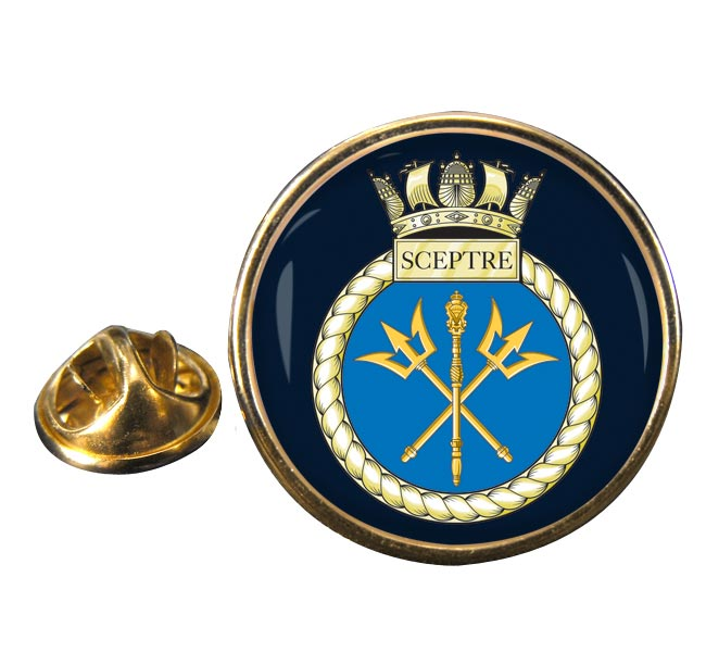 HMS Sceptre (Royal Navy) Round Pin Badge