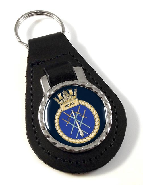 HMS Smiter (Royal Navy) Leather Key Fob