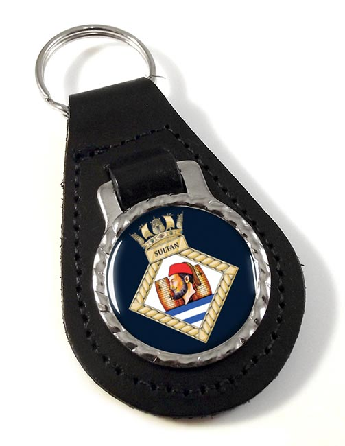HMS Sultan (Royal Navy) Leather Key Fob