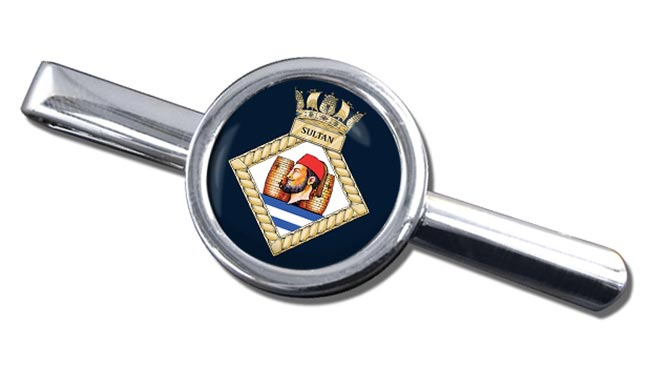 HMS Sultan (Royal Navy) Round Tie Clip