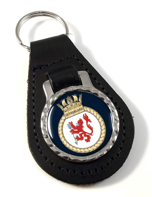 HMS Sutherland (Royal Navy) Leather Key Fob