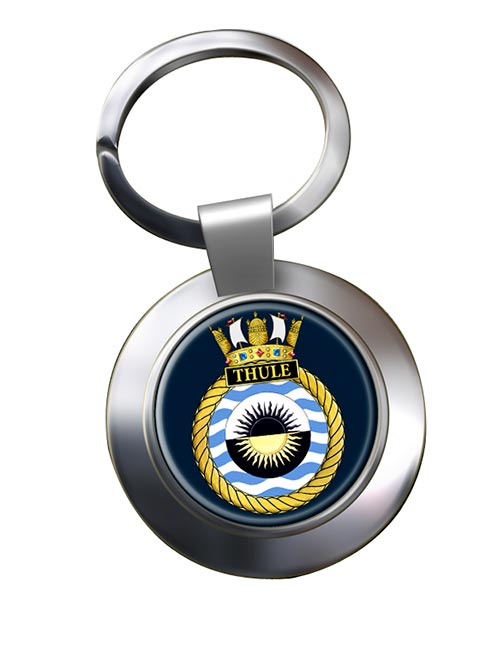 HMS Thule (Royal Navy) Chrome Key Ring