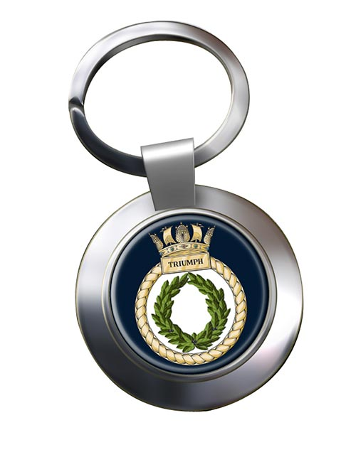 HMS Triumph (Royal Navy) Chrome Key Ring