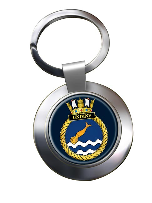 HMS Undine (Royal Navy) Chrome Key Ring
