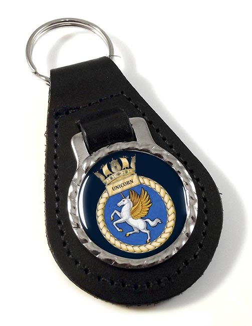 HMS Unicorn (Royal Navy) Leather Key Fob