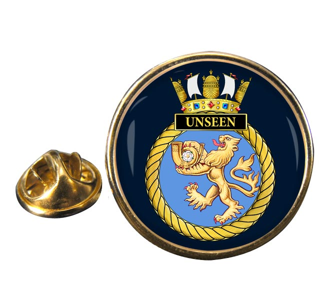 HMS Unseen (Royal Navy) Round Pin Badge