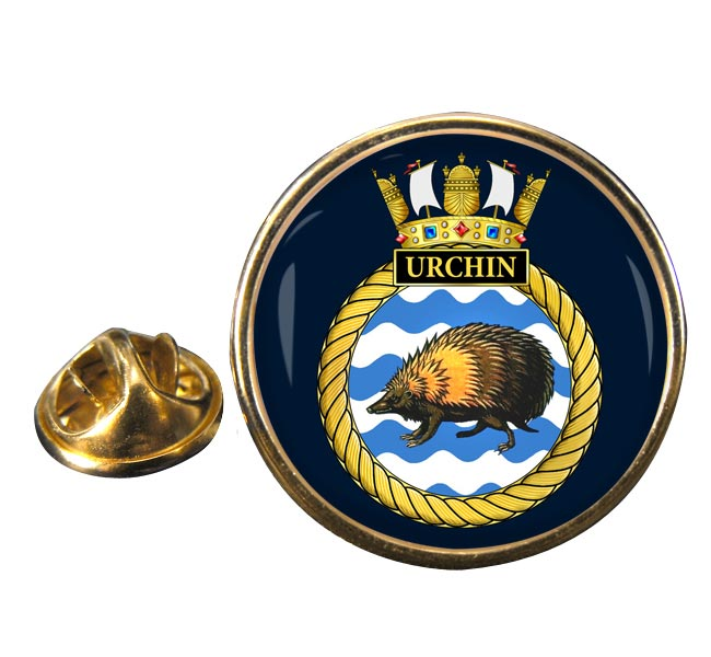 HMS Urchin (Royal Navy) Round Pin Badge