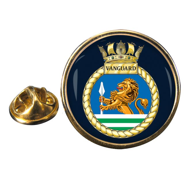 HMS Vanguard (Royal Navy) Round Pin Badge