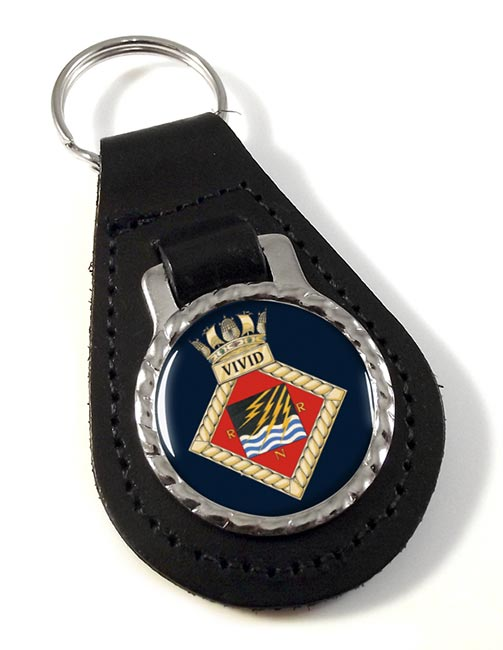 HMS Vivid (Royal Navy) Leather Key Fob