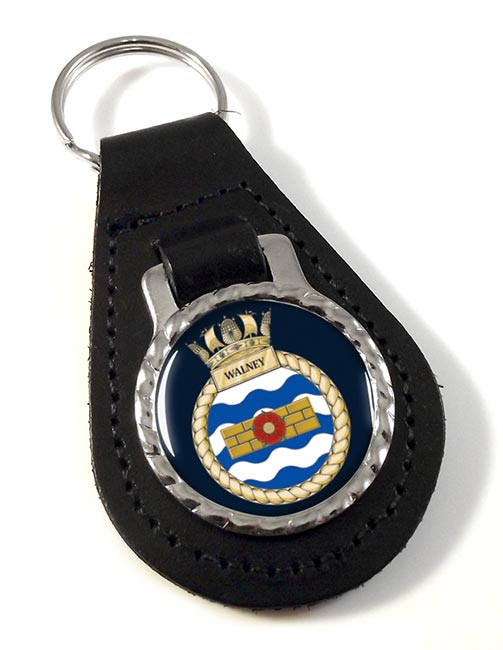 HMS Walney (Royal Navy) Leather Key Fob