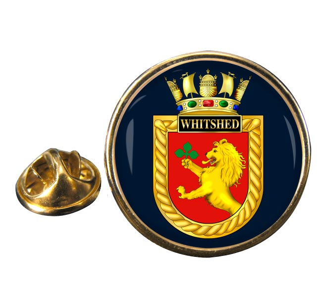 HMS Whitshed (Royal Navy) Round Pin Badge