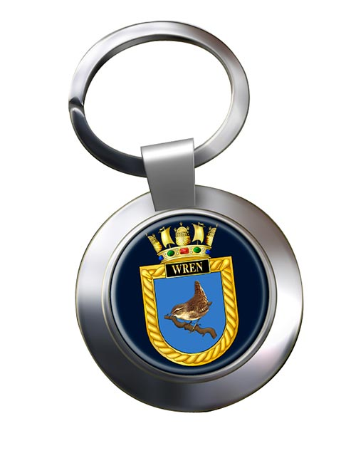 HMS Wren (Royal Navy) Chrome Key Ring