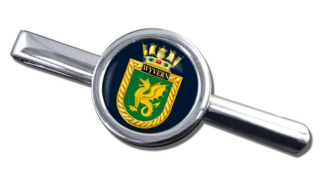 HMS Wyvern (Royal Navy) Round Tie Clip