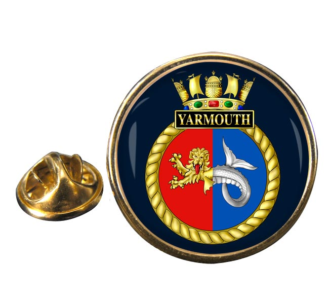 HMS Yarmouth (Royal Navy) Round Pin Badge