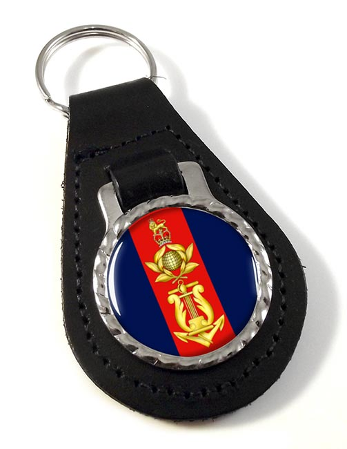 Royal Marines School of music Leather Key Fob