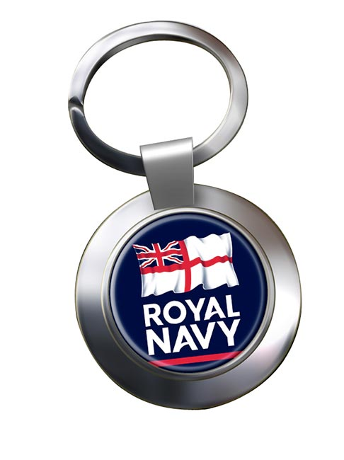Royal Navy Chrome Key Ring
