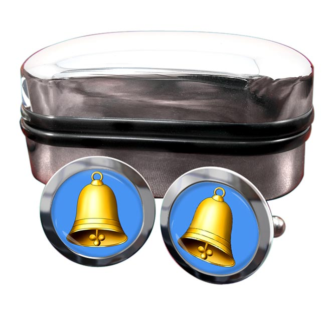 Church Bell Round Cufflinks