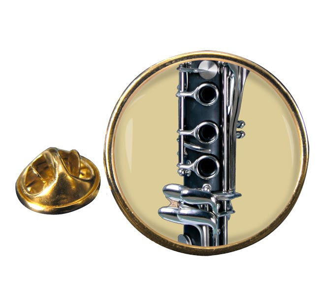 Clarinet Round Pin Badge