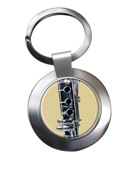 Clarinet Chrome Key Ring