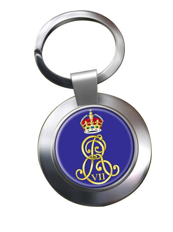 Edward VII monogram  Chrome Key Ring