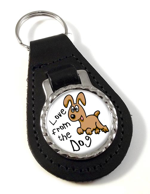 Love from the dog Leather Key Fob