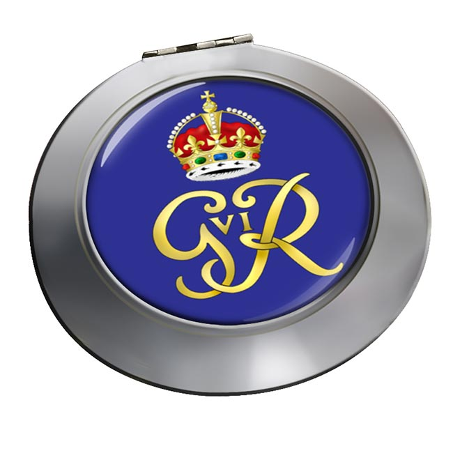 George VI monogram  Chrome Mirror