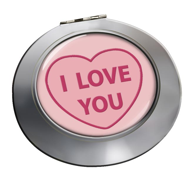 Love Heart I Love You Chrome Mirror
