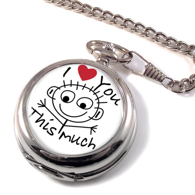 I Love You This Much Pocket Watch