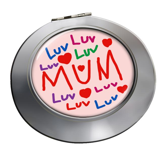 Love Mum Chrome Mirror