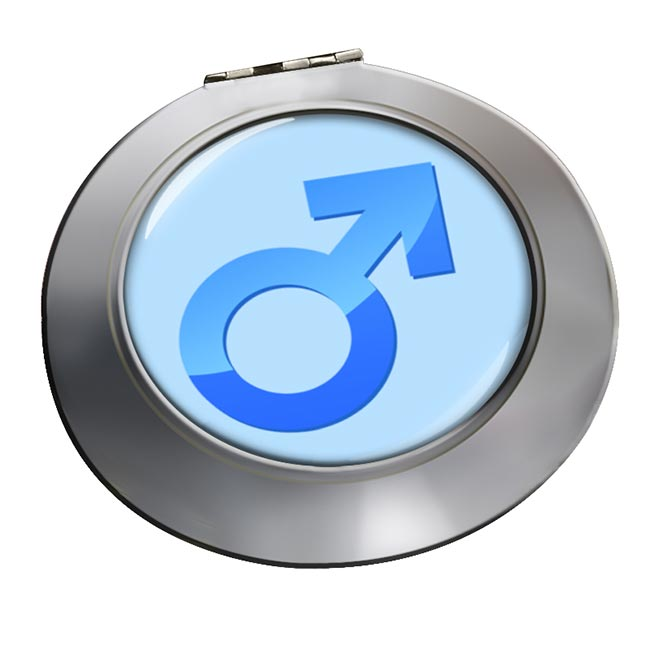 Mars Male Symbol Chrome Mirror