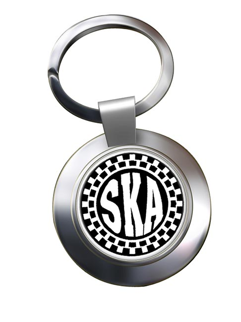 Ska Chrome Key Ring