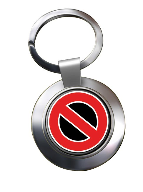 STOP! Chrome Key Ring