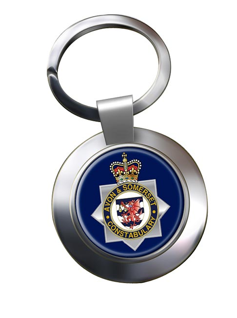 Avon and Somerset Constabulary Chrome Key Ring