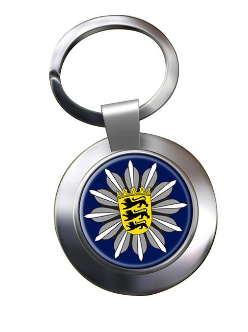 Polizei Baden-Wurttemberg Chrome Key Ring