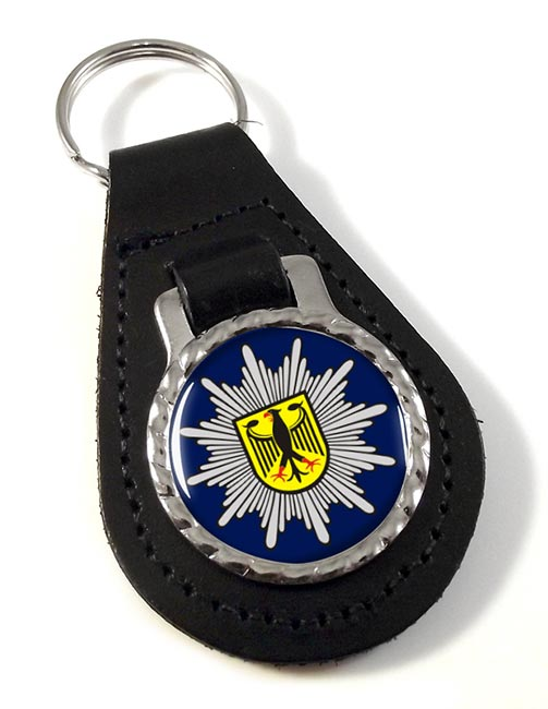 Bundespolizei Leather Key Fob