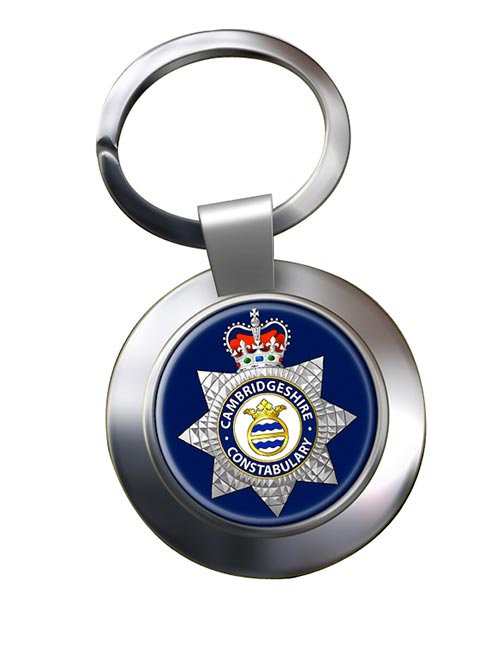 Cambridgeshire Constabulary Chrome Key Ring