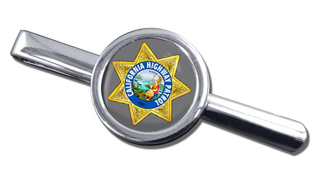 California Highway Patrol Round Tie Clip